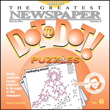 The Greatest Dot-to-Dot Mini Travel Newspaper Book: Vol #6 Front Cover